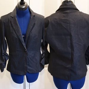 Dress Barn size M lined, ruched sleeve blazer.